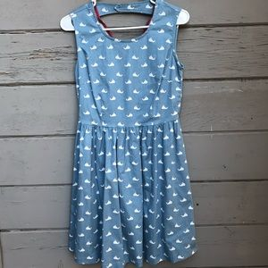Kling Blue Whale Alrighty Then Dress open Back